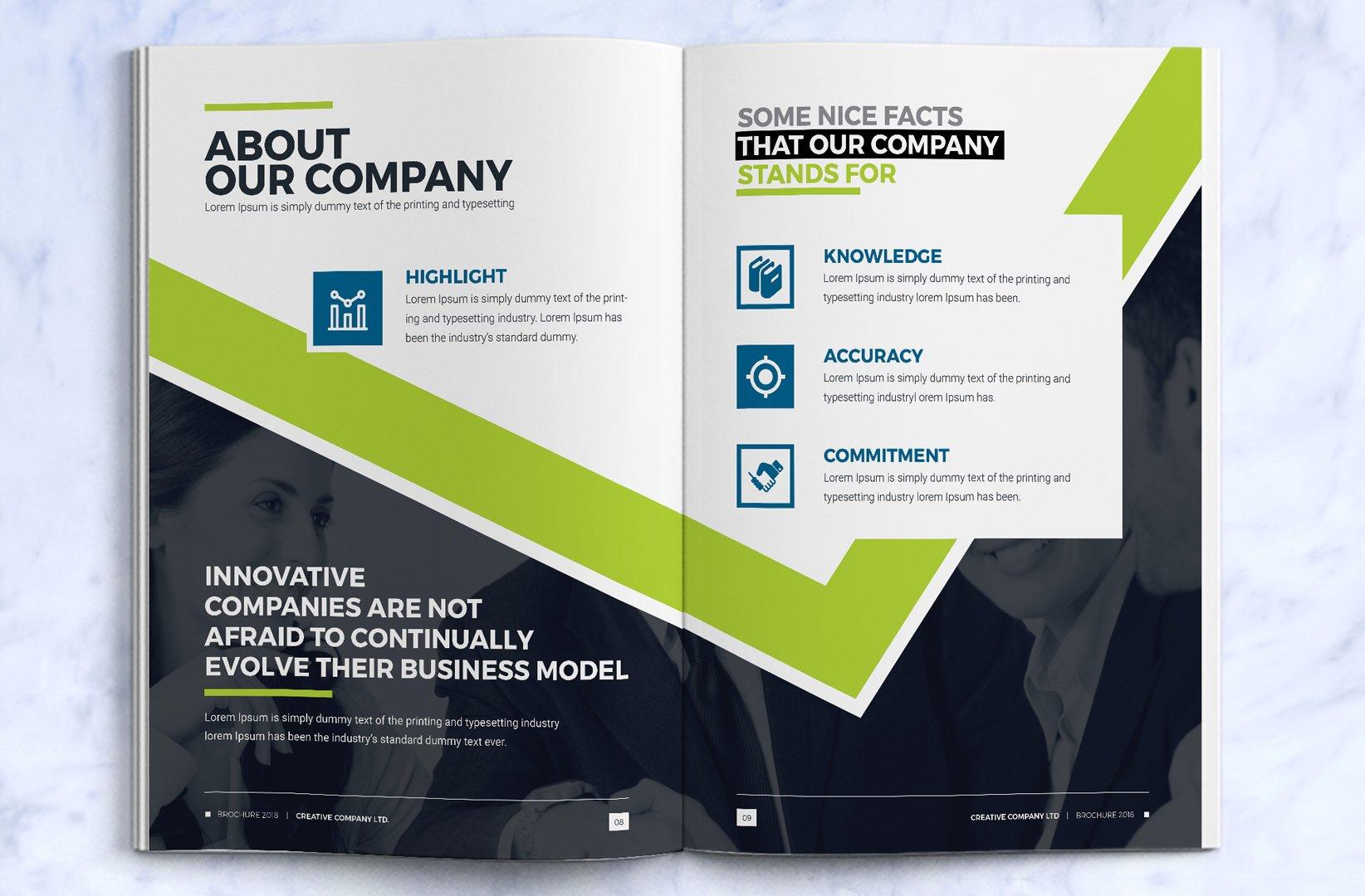 Construction Company Tri Fold Brochure Design Template