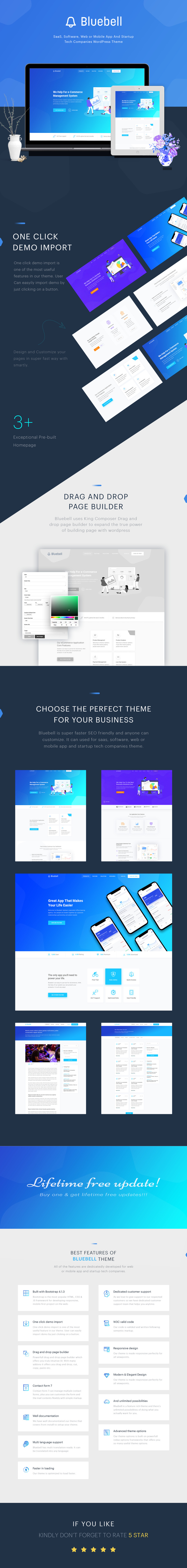 Bluebell - Software, Web App And Startup Tech Company WordPress Theme WordPress Theme - Features Image 1