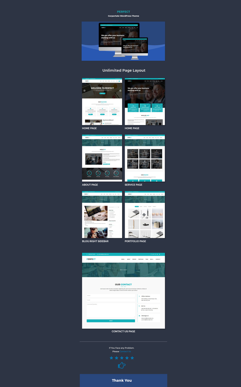 Perfect Corporate WordPress Theme - Features Image 1