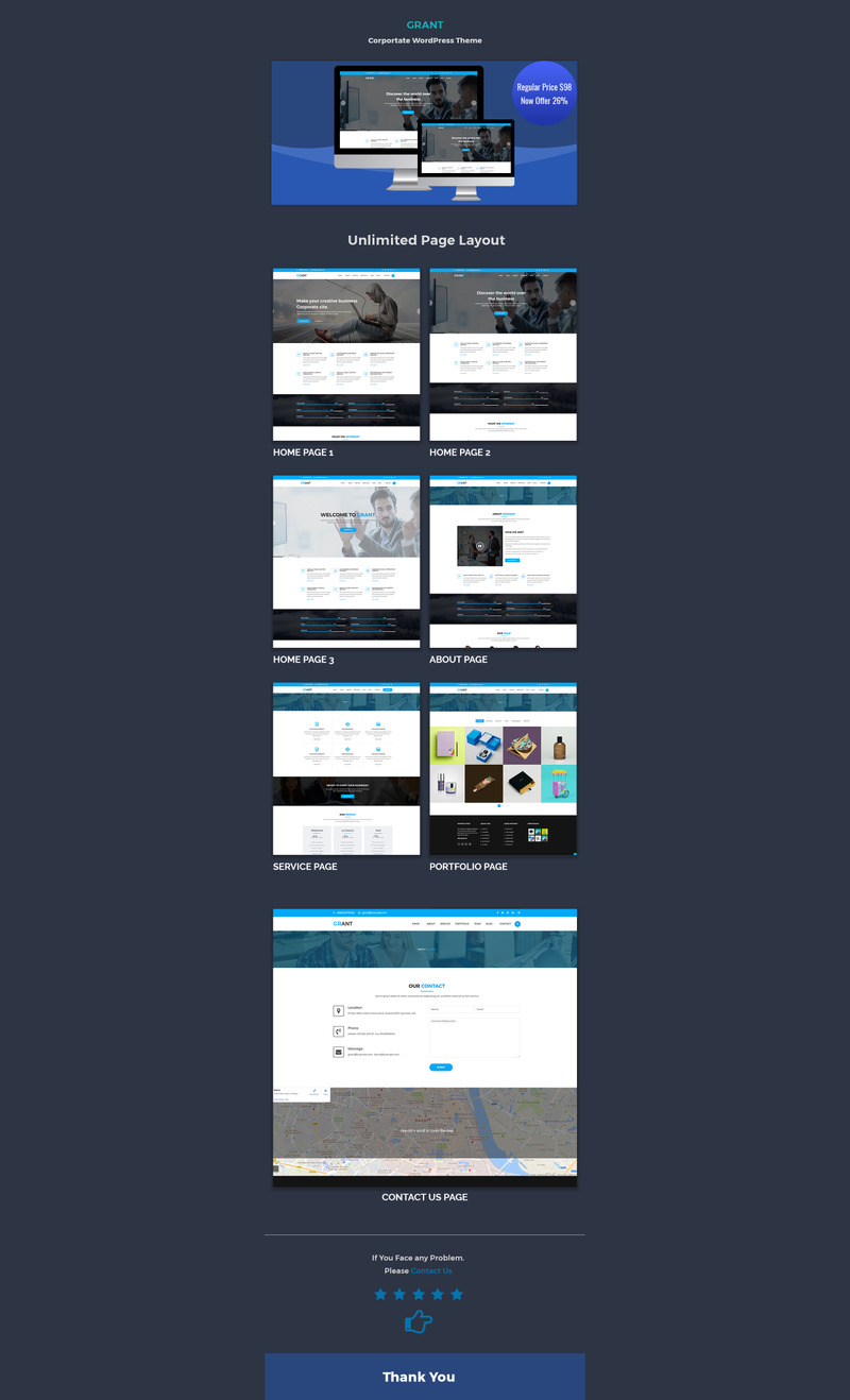 Grant Responsive WordPress Theme - Features Image 1