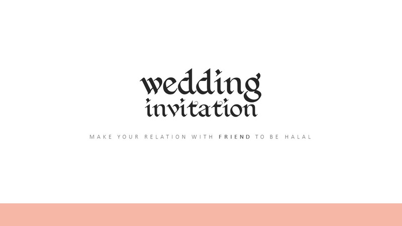 Digital Wedding Invitation Wedding Invitation Wedding Gift Powerpoint Template 64544