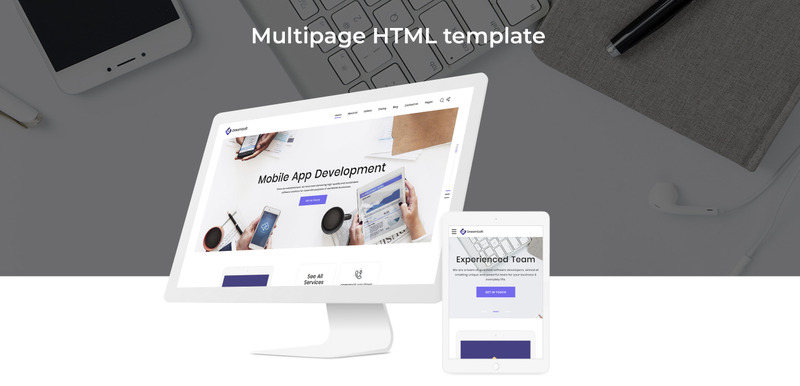 DreamSoft - Software Development Company Multipage Website Template - Features Image 2