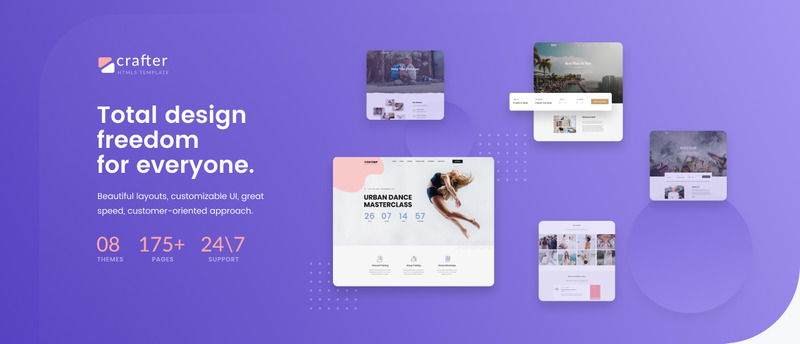 Crafter - Multipurpose Modern Bootstrap 4 Website Template - Features Image 1