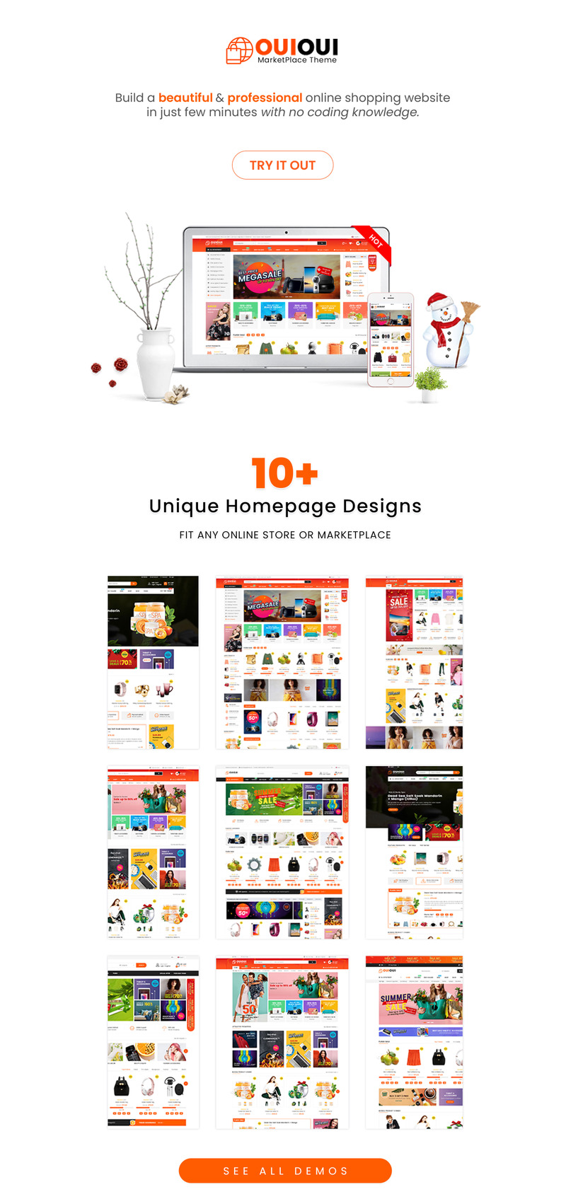 OuiOui - Multi Vendor MarketPlace Elementor WooCommerce Theme - Features Image 1
