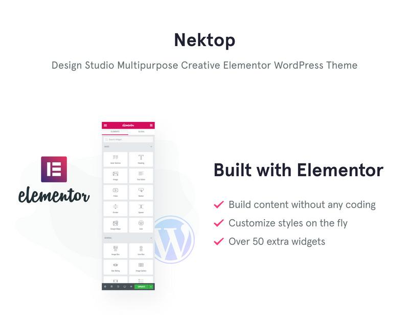 Nektop - Design Studio Multipurpose Creative WordPress Elementor Theme - Features Image 1