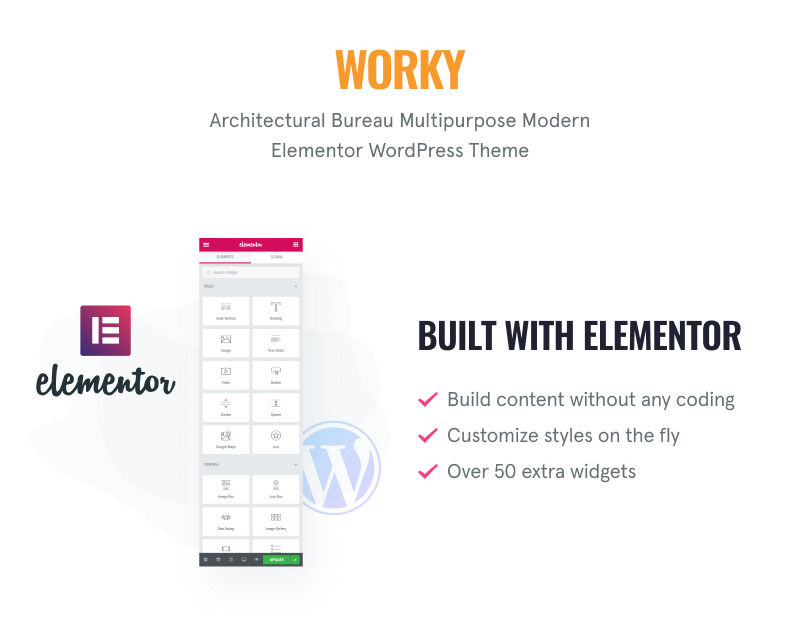 Worky - Architectural Bureau Multipurpose Modern WordPress Elementor Theme - Features Image 1