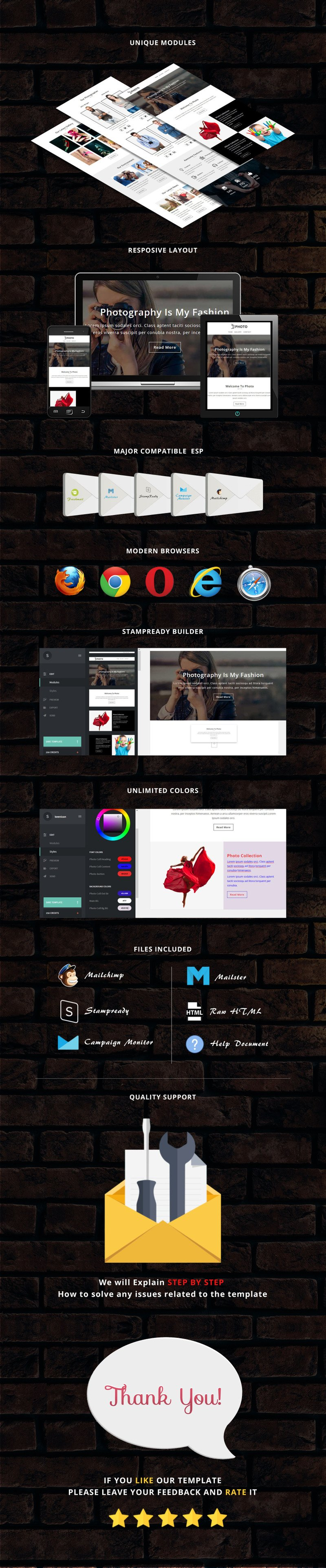 Photo - Responsive Email Newsletter Template - Features Image 1