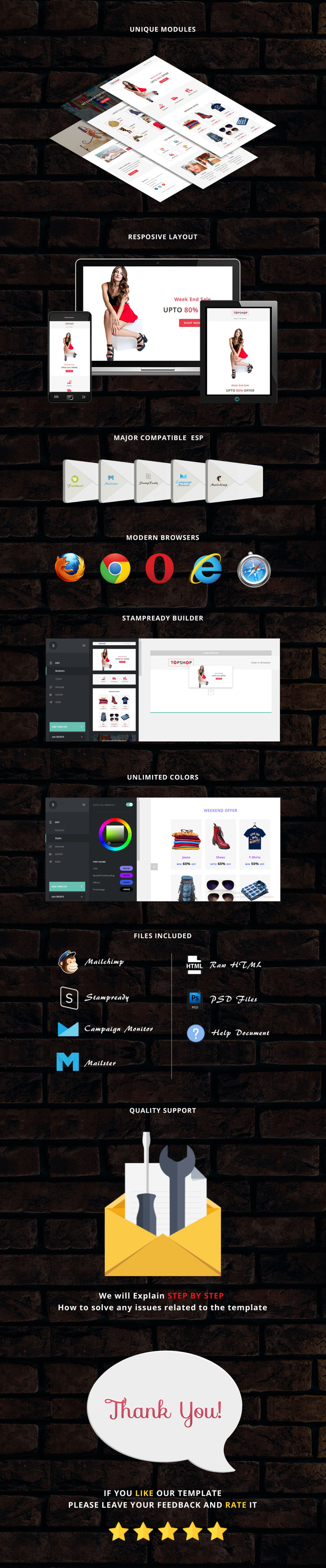 TopShop - Responsive Email Newsletter Template - Features Image 1