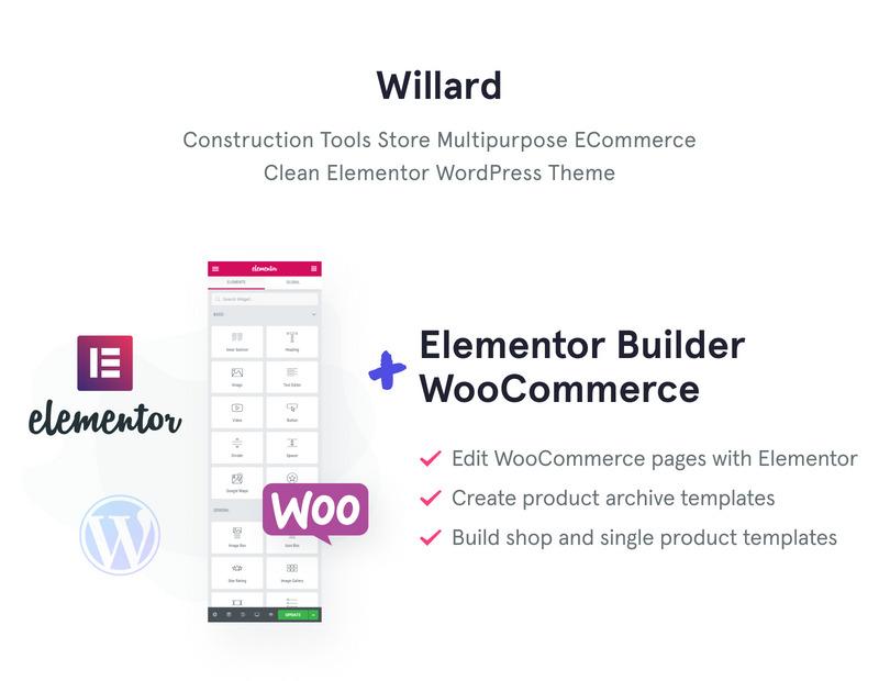 Willard - Tools & Hardware WooCommerce Theme - Features Image 1