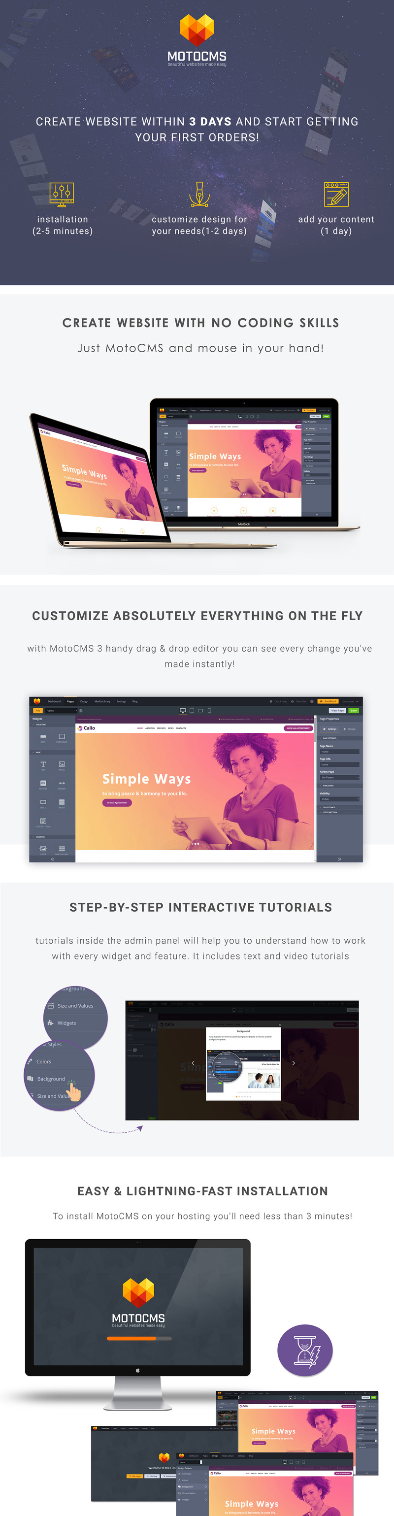 Calio - Psychology Moto CMS 3 Template - Features Image 1