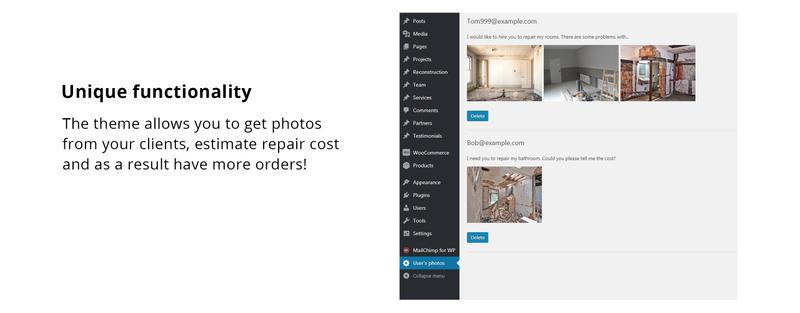 Trowel - Construction WordPress Theme - Features Image 1