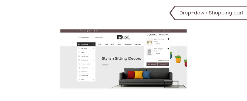 UpLine - Furniture Online Store WooCommerce Theme - Features Image 6