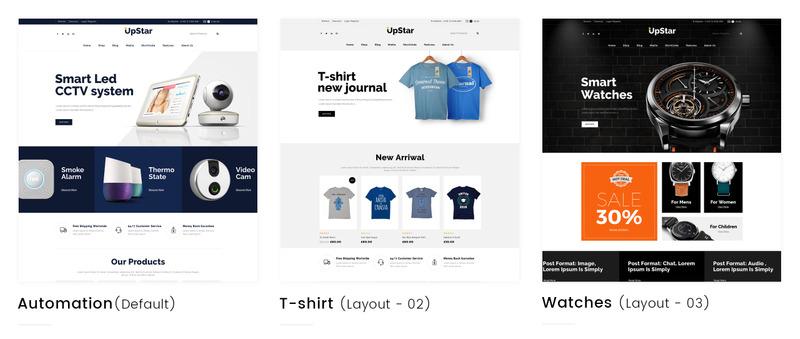 UpStar Multipurpose Store WooCommerce Theme - Features Image 1
