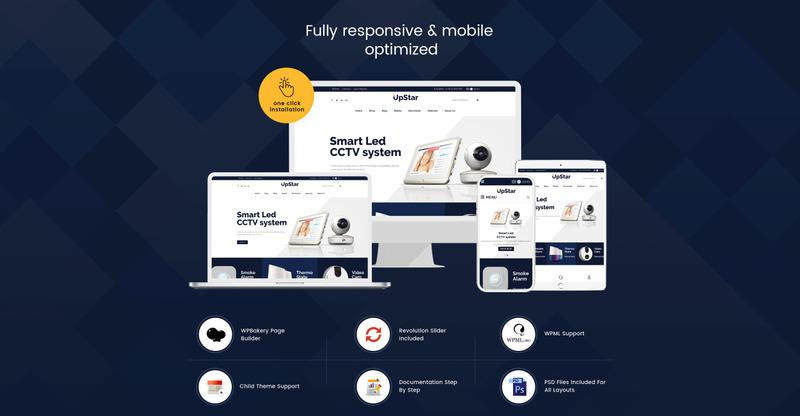 UpStar Multipurpose Store WooCommerce Theme - Features Image 2