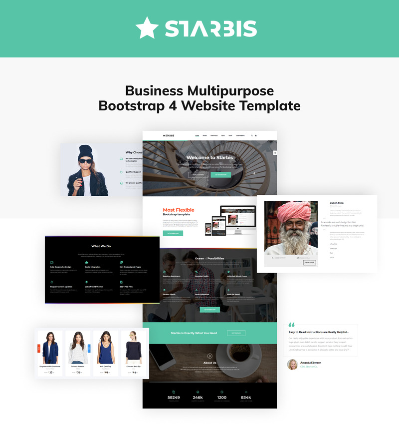 Starbis - Business Multipurpose Bootstrap 4 Website Template - Features Image 2
