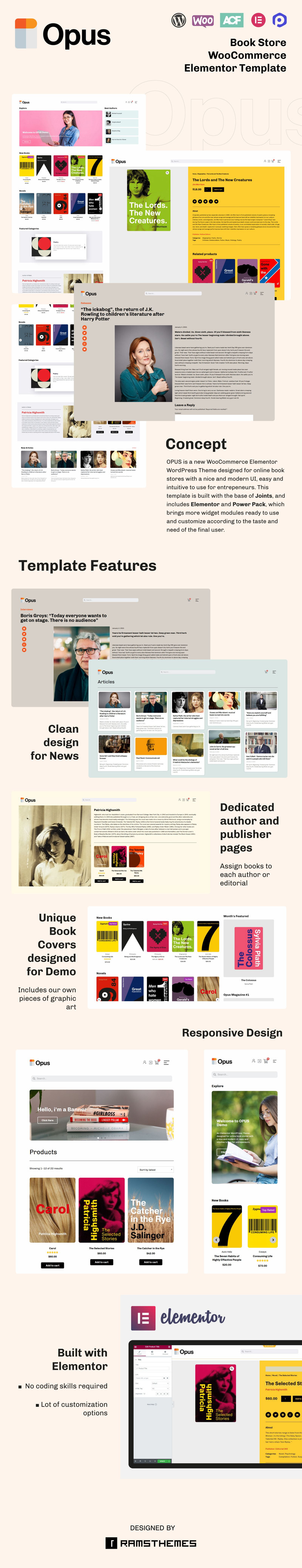 OPUS - Book Store WooCommerce Theme - Features Image 1