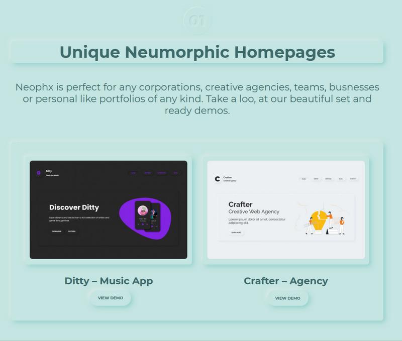Neophx – Neumorphic Minimalist Responsive WordPress Theme - Features Image 1