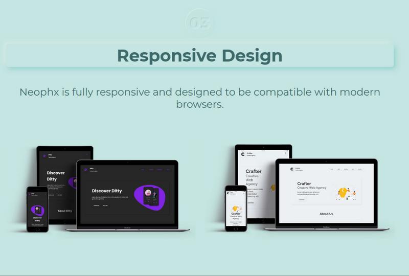 Neophx – Neumorphic Minimalist Responsive WordPress Theme - Features Image 3