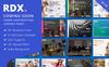 RDX: Coming Soon, Under Construction Landing Page Template Big Screenshot