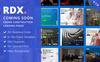 """Responzivní Šablona mikrostránek """"RDX: Coming Soon, Under Construction"""" Velký screenshot"""