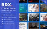 "Responzivní Šablona mikrostránek ""RDX: Coming Soon, Under Construction"""