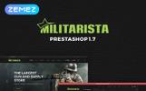 "PrestaShop Theme namens ""Militarista - Weapons Store"""