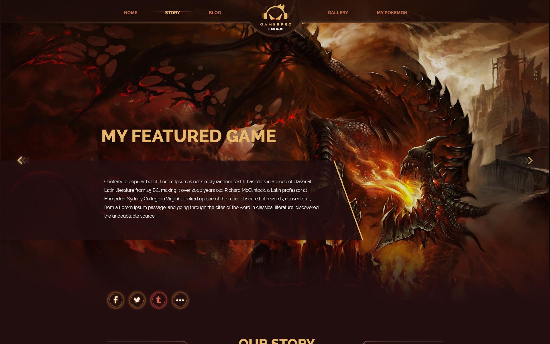 Plantilla PSD #64985 para Sitio de Portal de Juegos