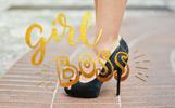 Girl power - lettering set Logo Template