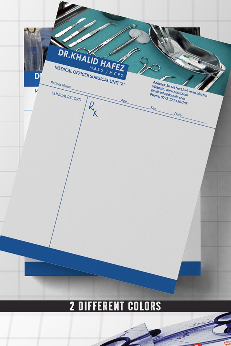 Doctor/Hospital Letterhead Corporate Identity Template #70523