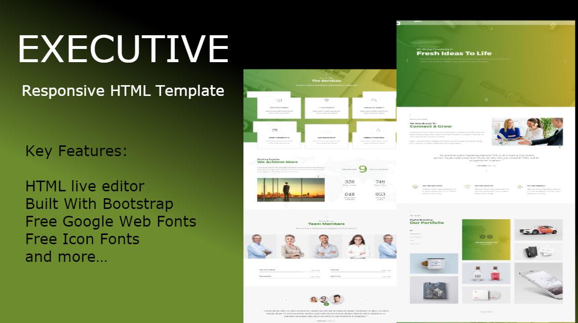 executive multipurpose html website template 65321