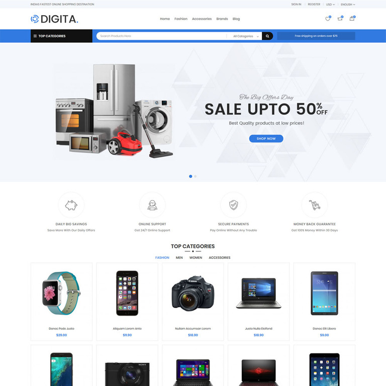 Digita - Electronics PrestaShop Theme