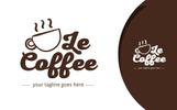 Le Coffee Logo Template