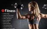 Fitness -  Parallax Templates de Landing Page  №70637