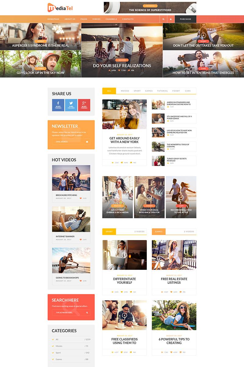 MediaTel Online Magazine PSD Template - Online magazine template