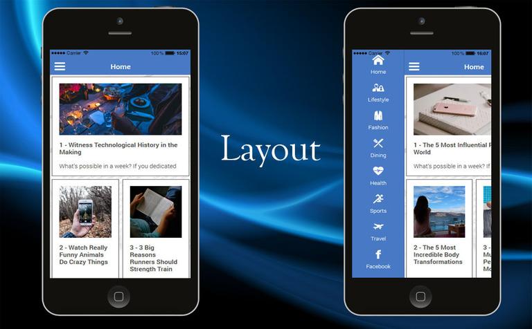 Wordpress News iOS & Android App Template #65139