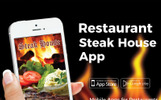 """Steak House Restaurant"" Responsive App Template"