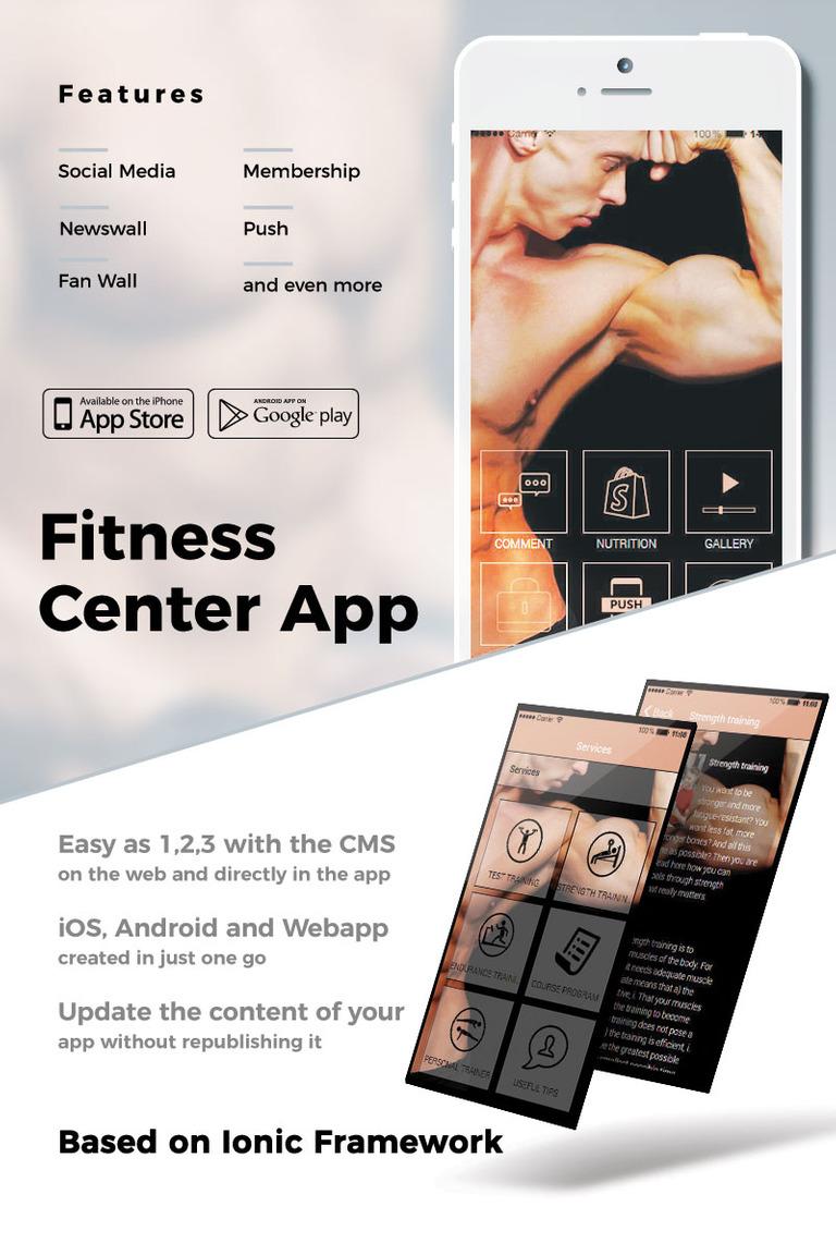 fitness center e commerce shop app template 65220