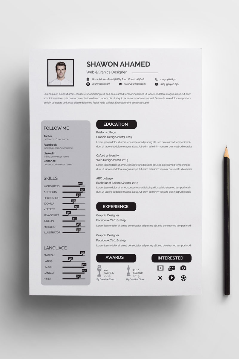Shawon Ahamed Resume Template