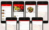 Modèle D'application adaptatif  pour restaurant italien