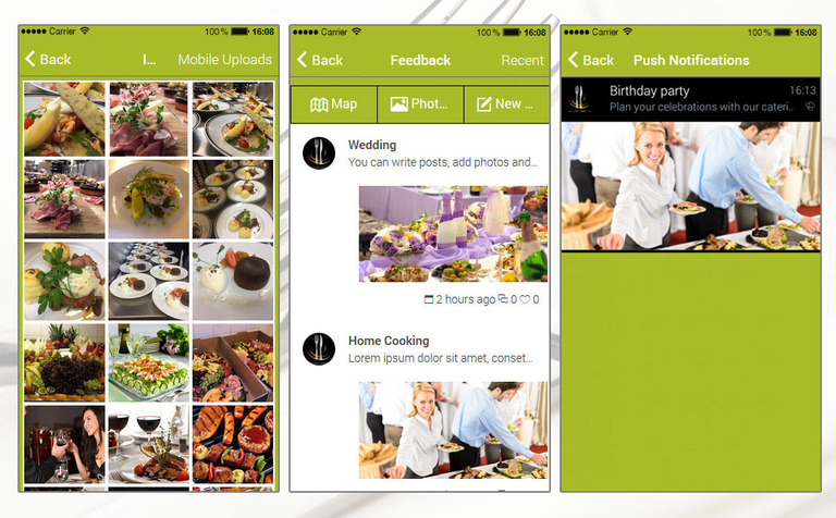 Catering & Home Cooking App Template #65260