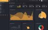 Responsive Admin Template over Amusement, spelletjes & nachtleven