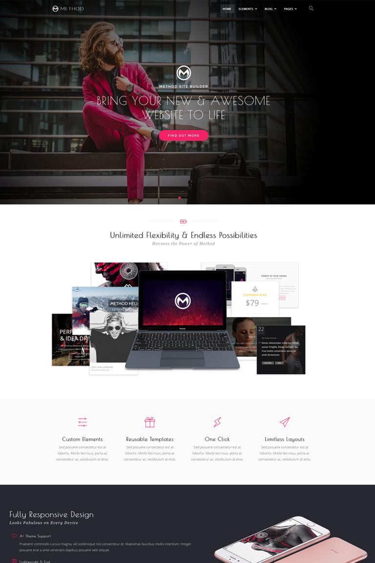 Method,  A Huge Multi-Concept WordPress Theme Big Screenshot