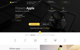 Responsivt Service - center Apple Service Landing Page-mall