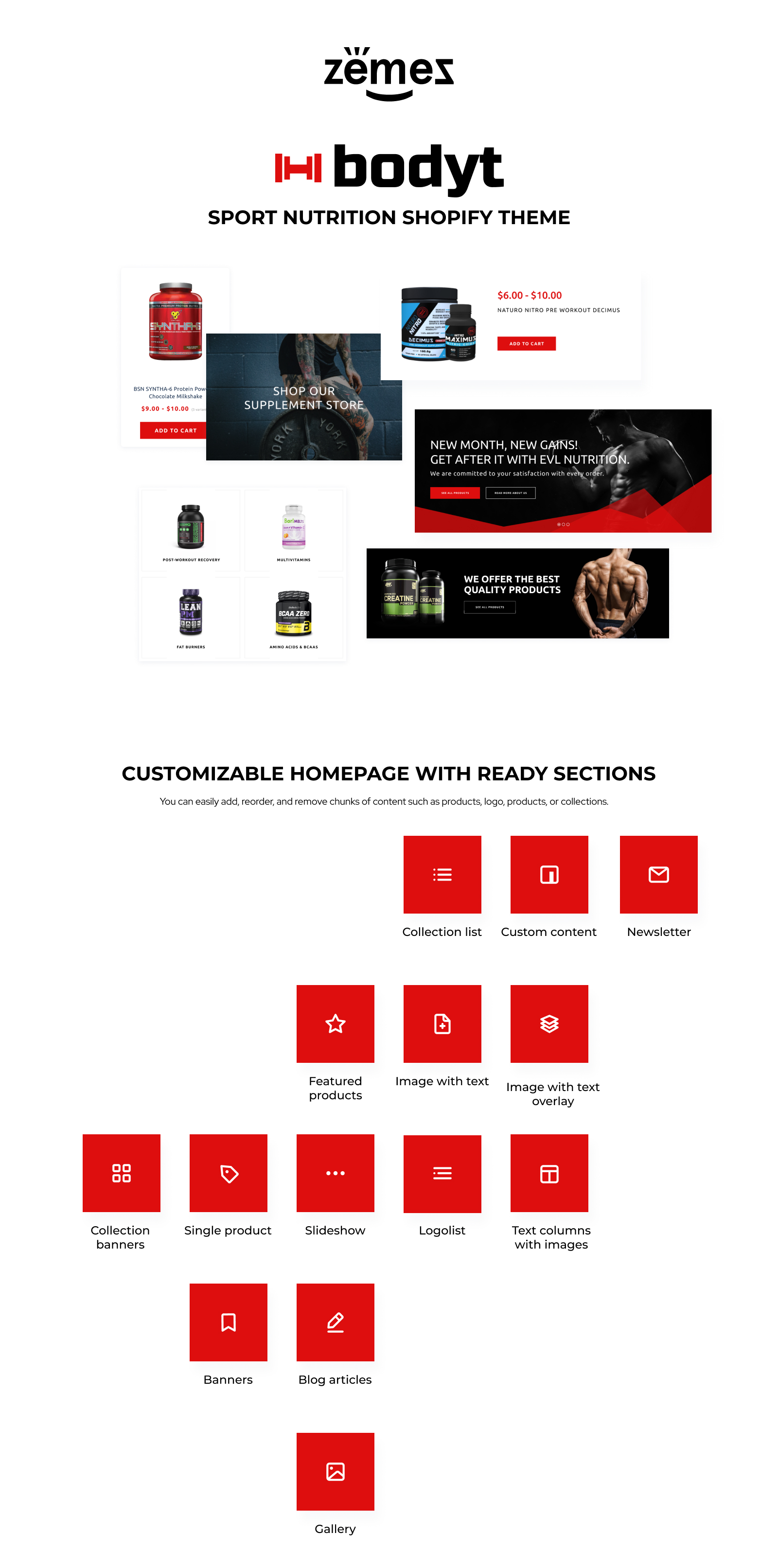 Body Builder - Sport Nutrition Shopify Theme