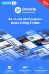 24.Storycle - Многоцелевой Elementor WordPress шаблон новостного сайта