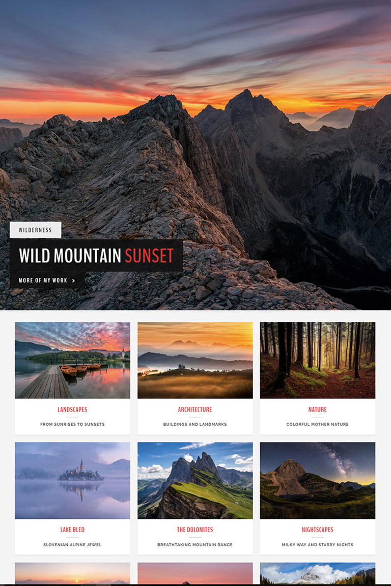 Wordpress themes for photography
