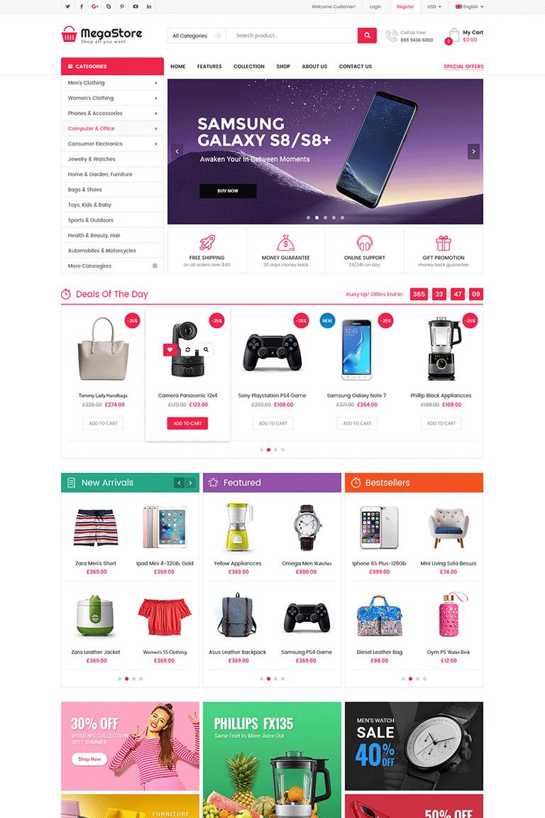 MegaStore - Multipurpose OpenCart Template #71169