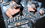 """Art Fest Flyer"" PSD模板"
