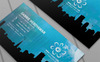 Creative Blue Business Card PSD Template Big Screenshot