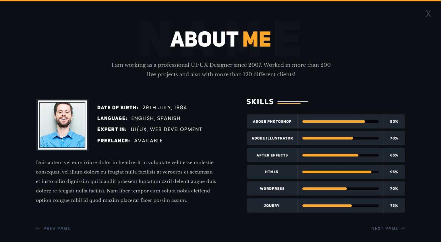 Plantilla Web #65862 para Sitio de Páginas personales